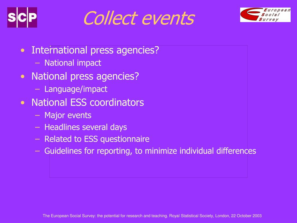 Collect events