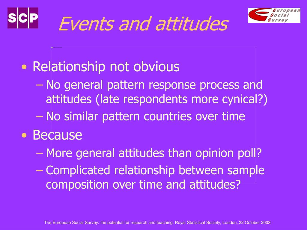Events and attitudes