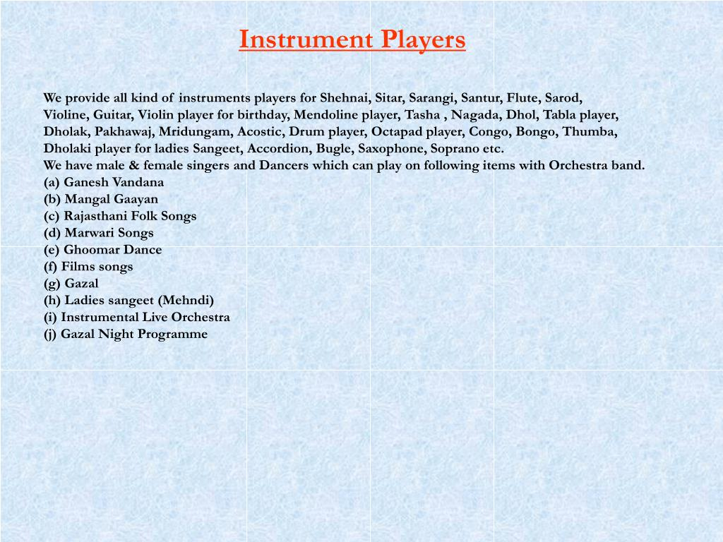 Instrument Players