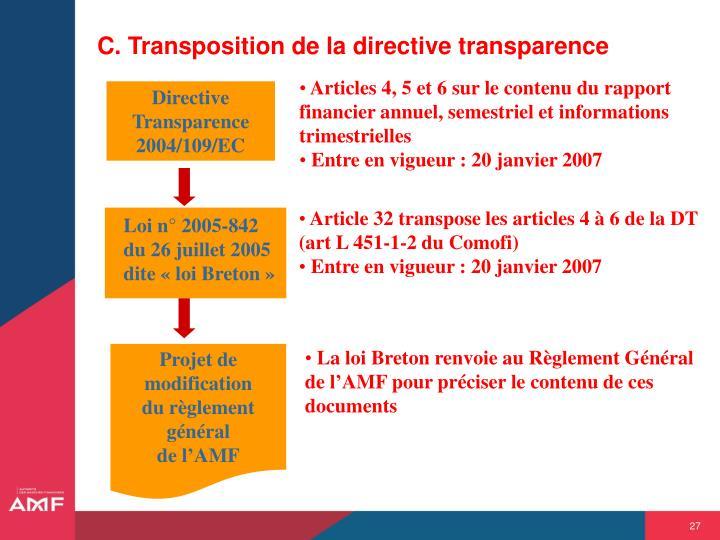 Articles 4, 5 et 6 sur le contenu du rapport financier annuel, semestriel et informations trimestrielles