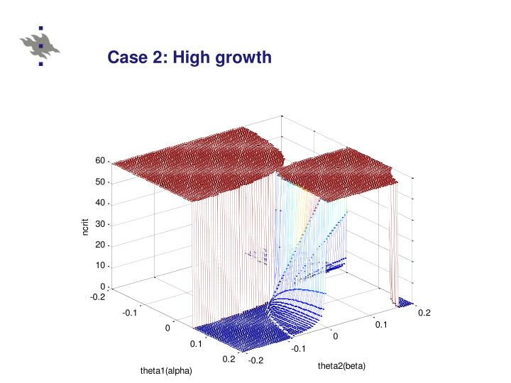 Case 2: High growth