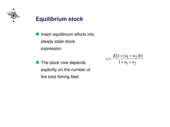 Equilibrium stock