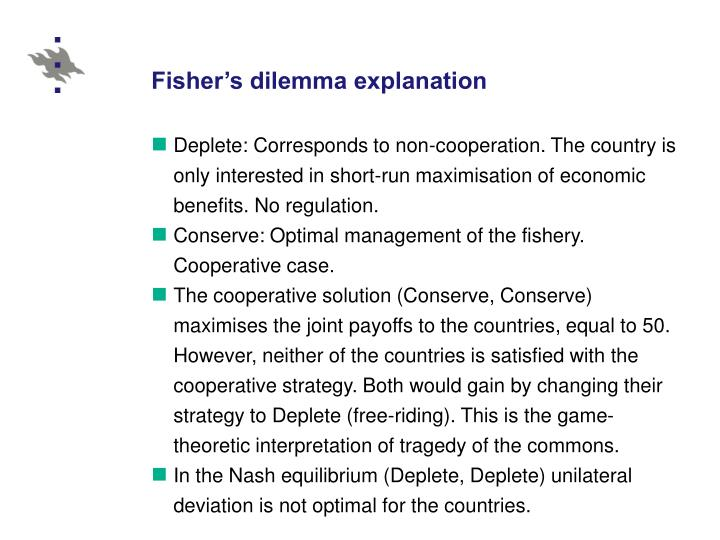 Fisher's dilemma explanation
