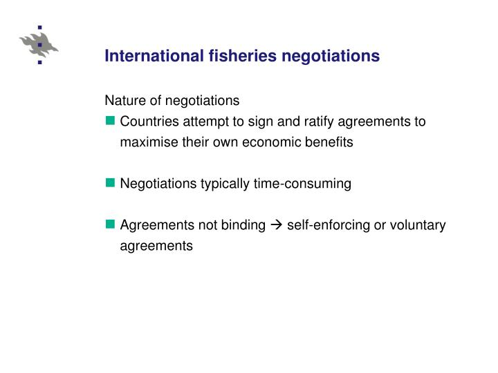 International fisheries negotiations