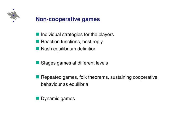 Non-cooperative games