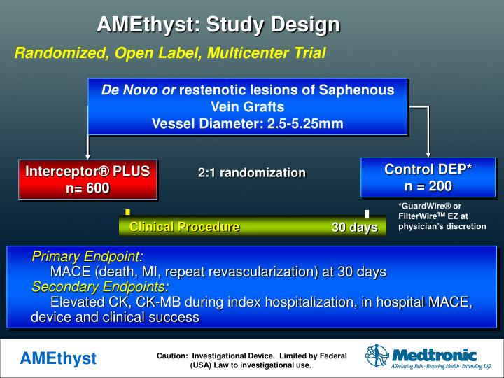AMEthyst: Study Design