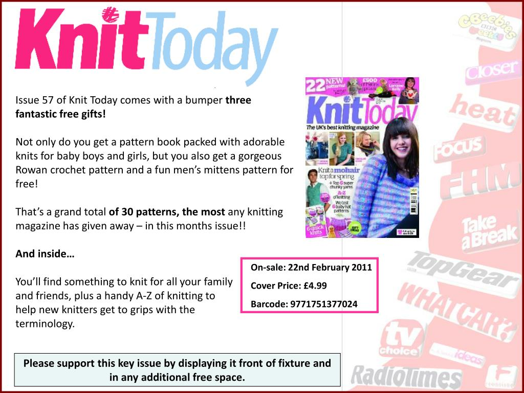 Issue 57 of Knit Today comes with a bumper