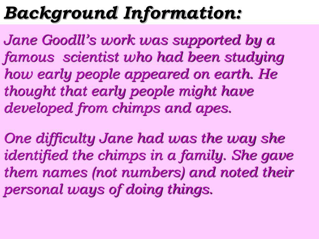 Background Information: