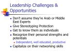 leadership challenges opportunities
