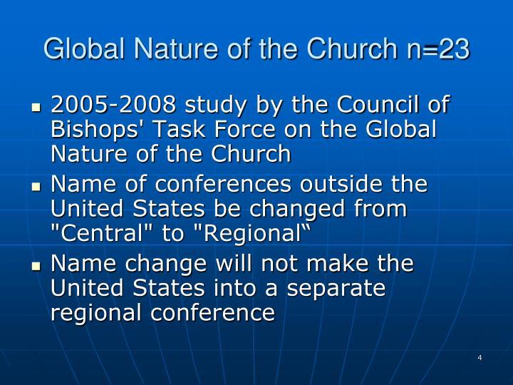 Global Nature of the Church n=23