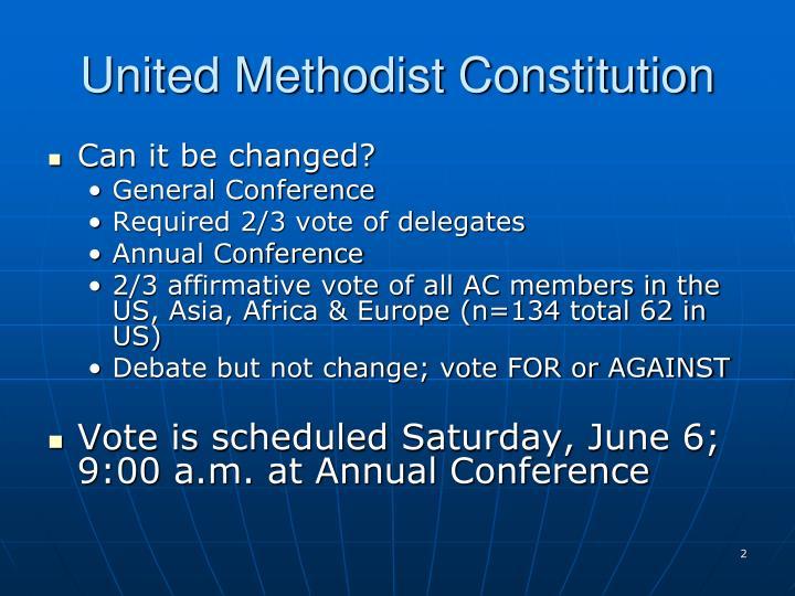United Methodist Constitution