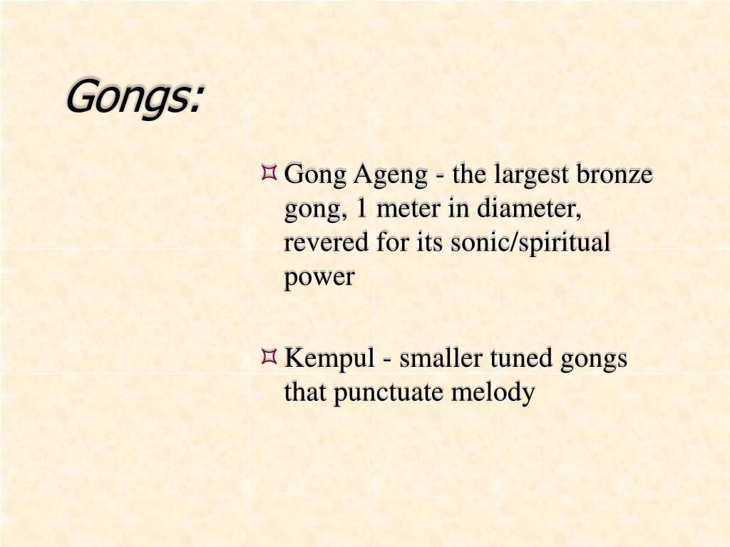 Gongs:
