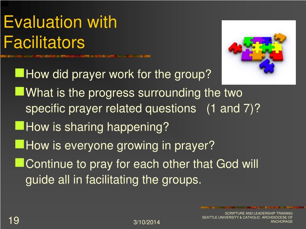 Evaluation with Facilitators