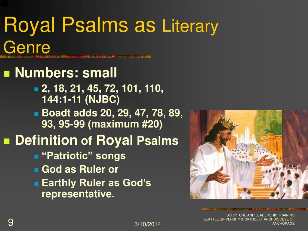 Royal Psalms as