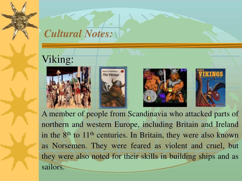 Cultural Notes: