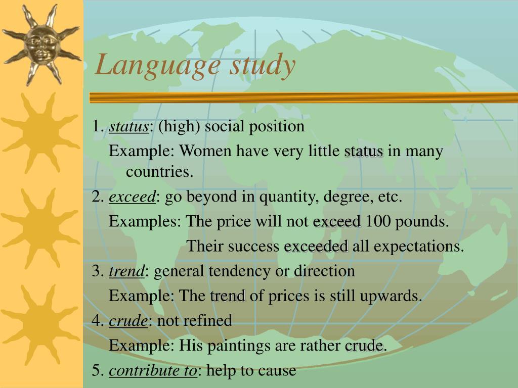 Language study