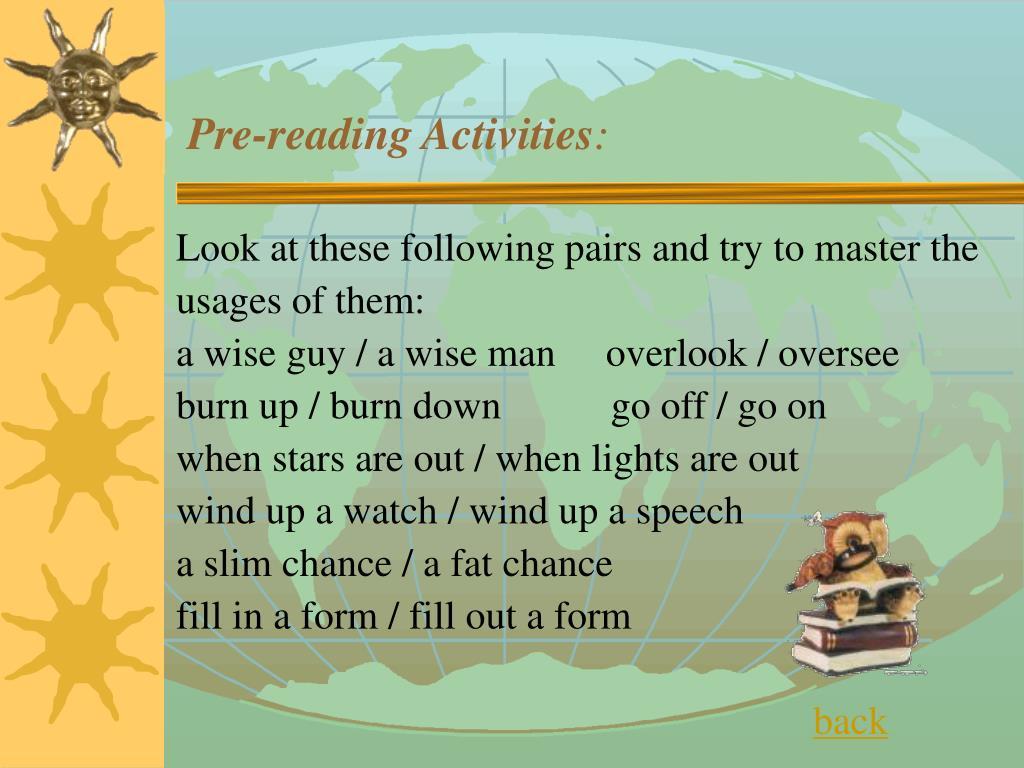 Pre-reading Activities