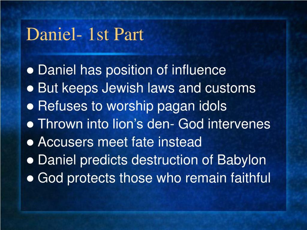 Daniel- 1st Part