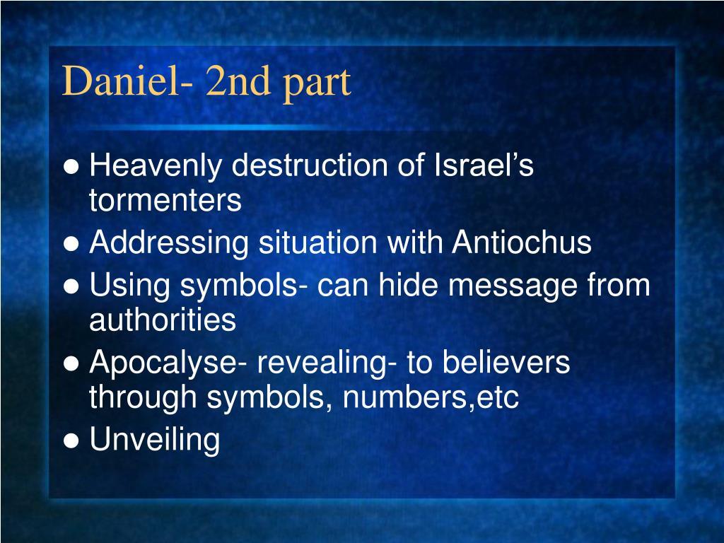 Daniel- 2nd part
