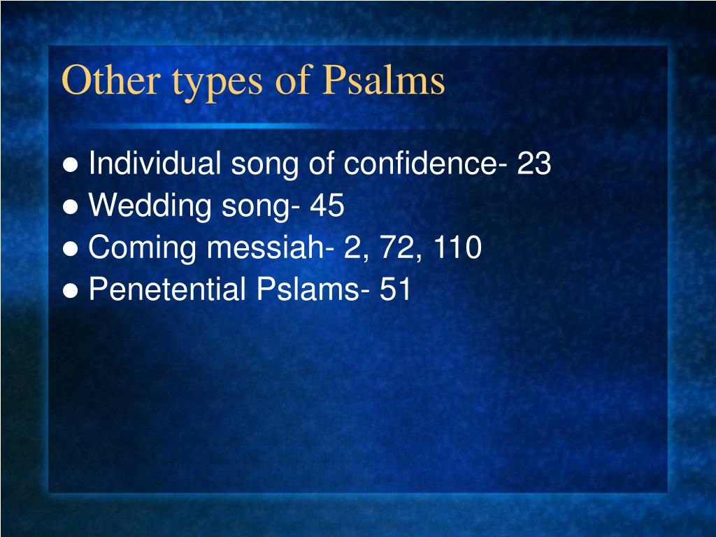 Other types of Psalms