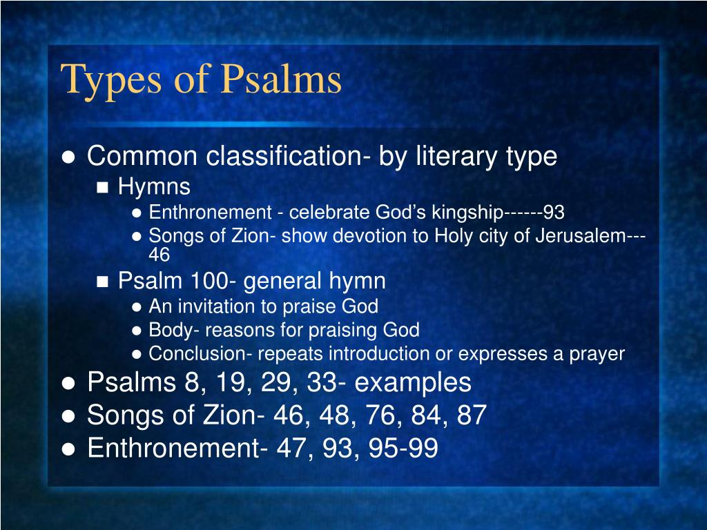 Types of Psalms