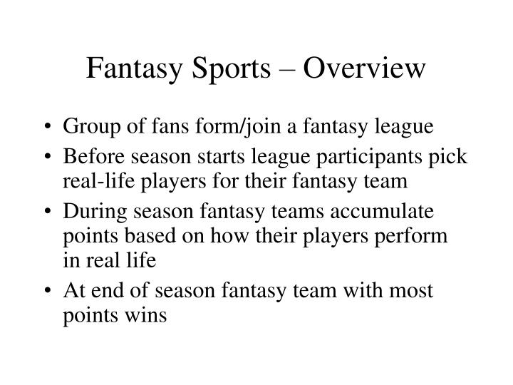 Fantasy sports overview