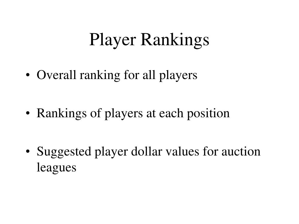 Player Rankings