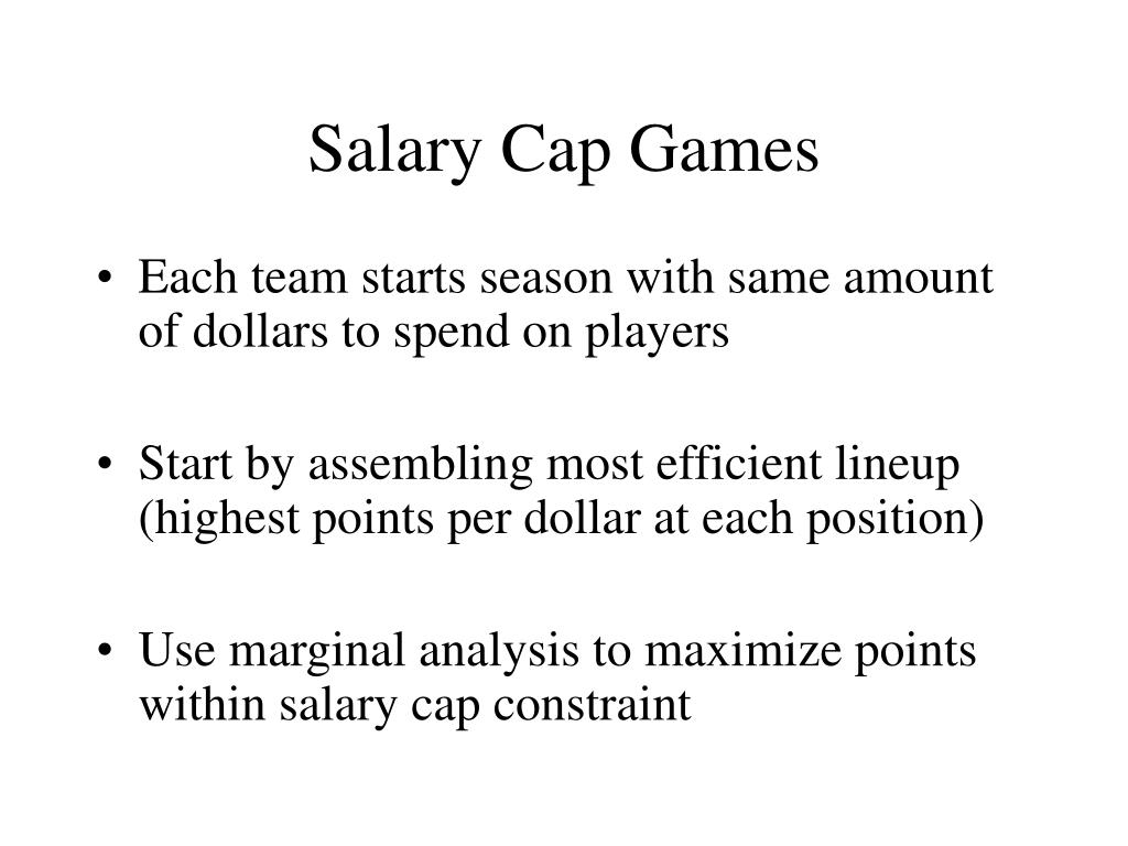 Salary Cap Games