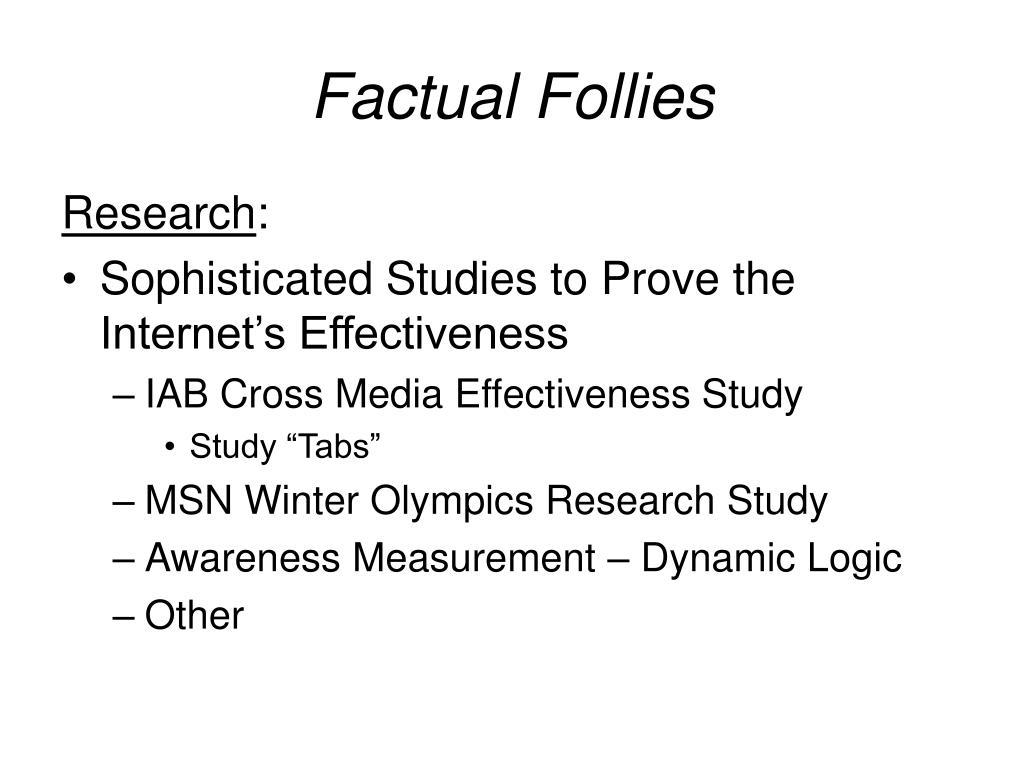 Factual Follies