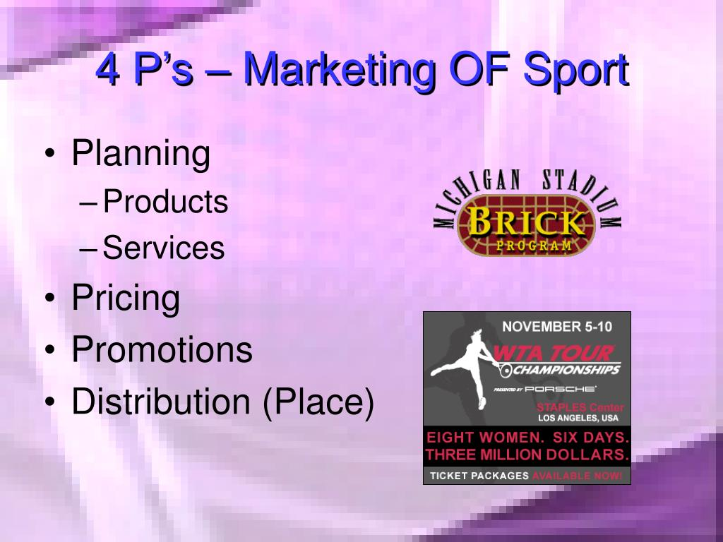 4 P's – Marketing OF Sport