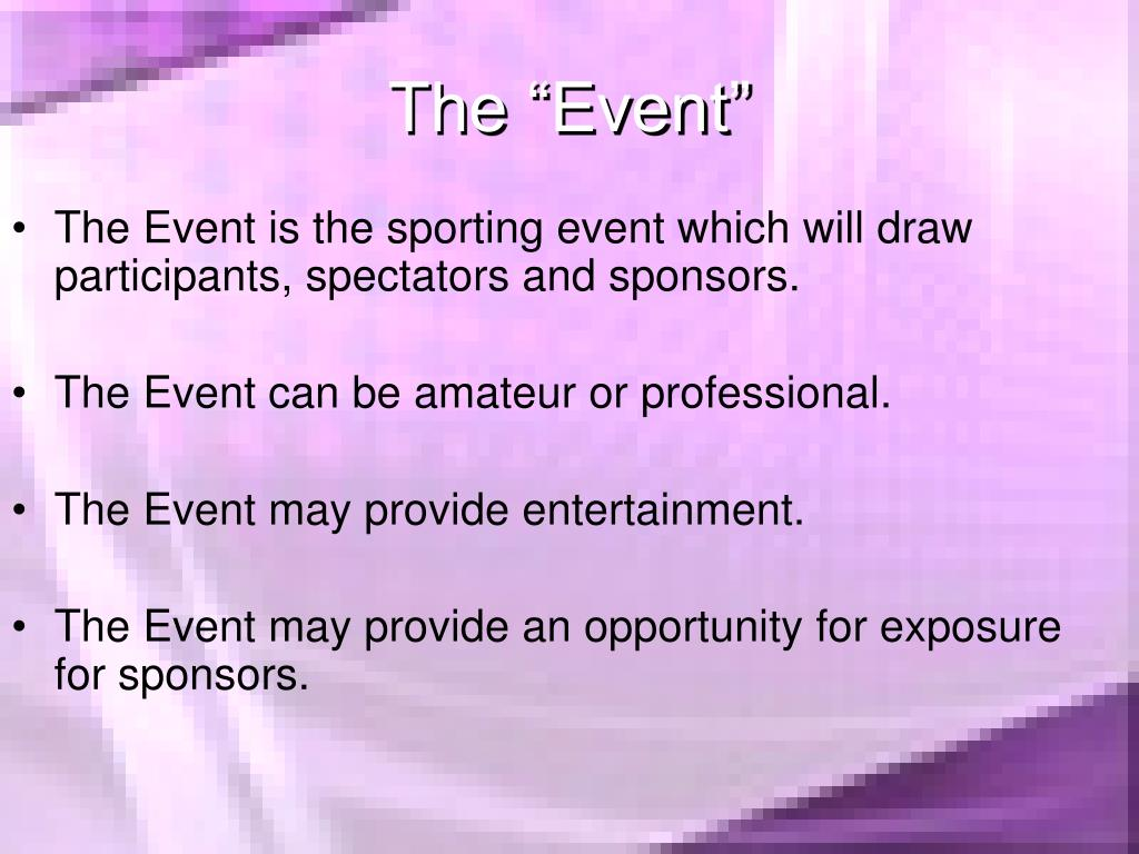 "The ""Event"""