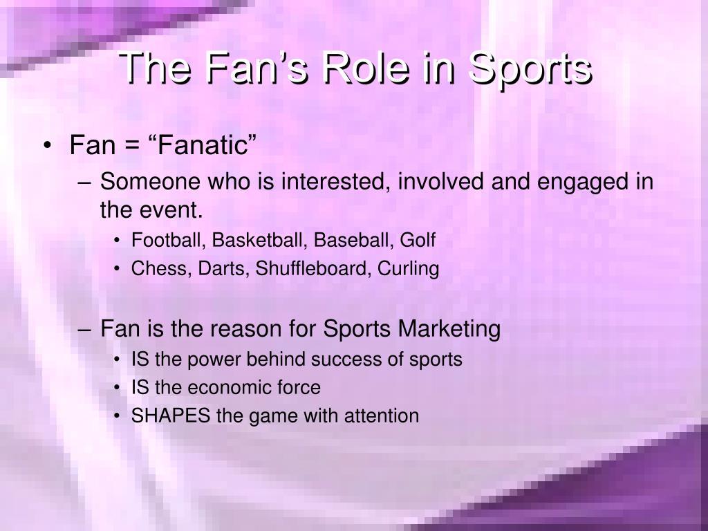 The Fan's Role in Sports