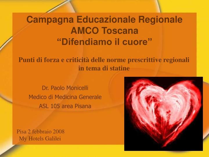 Campagna Educazionale Regionale AMCO Toscana