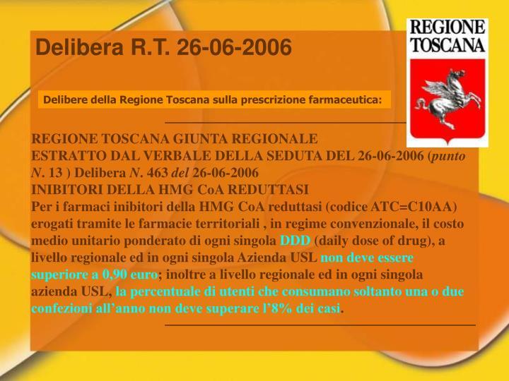 Delibera R.T. 26-06-2006