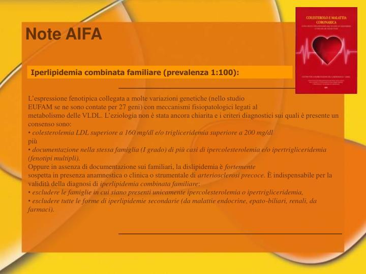 Note AIFA