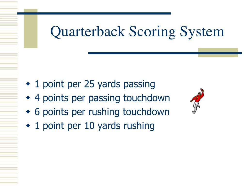 Quarterback Scoring System