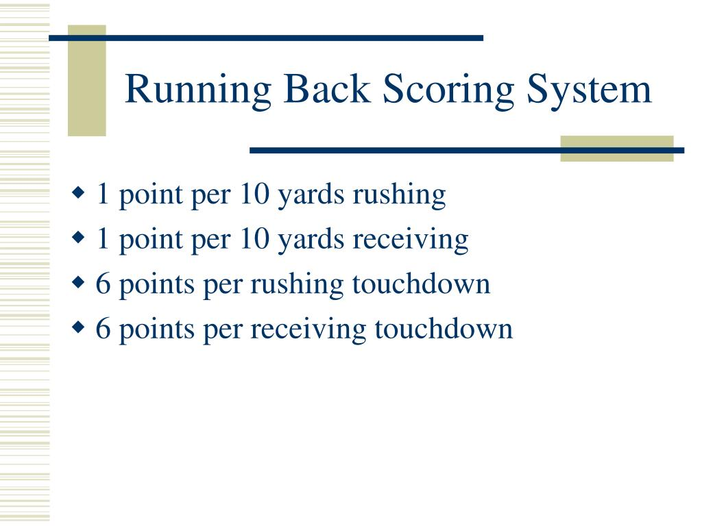 Running Back Scoring System