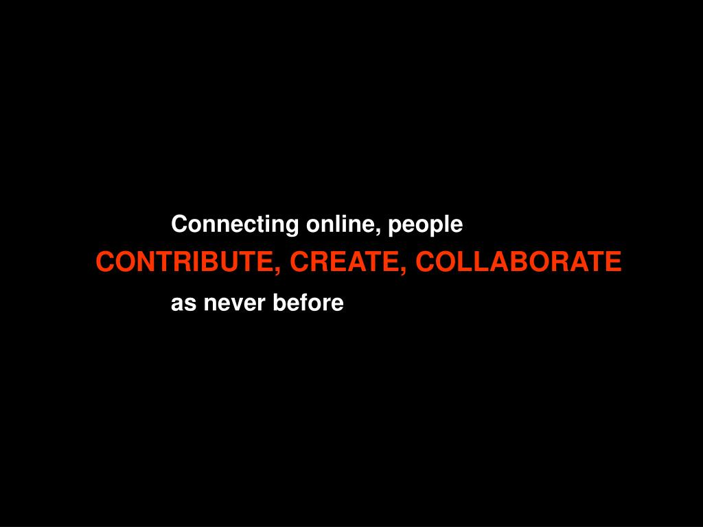 Connecting online, people