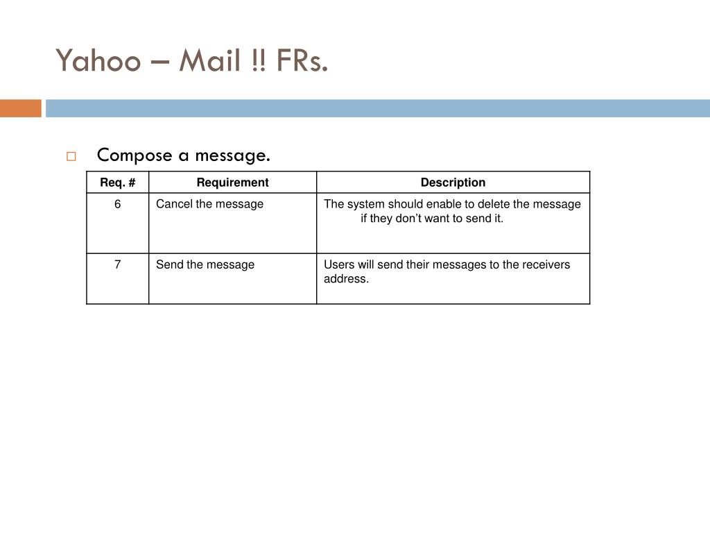 Yahoo – Mail !! FRs.