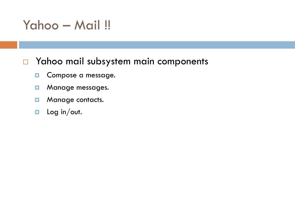 Yahoo – Mail !!