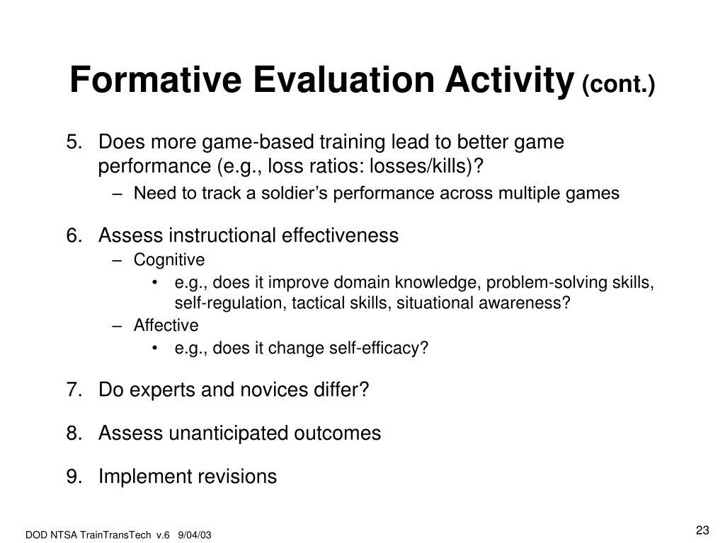 Formative Evaluation Activity