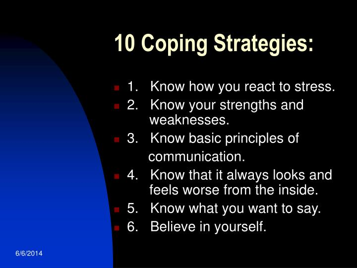 10 Coping Strategies: