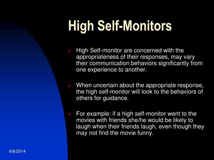 High Self-Monitors