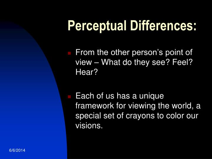 Perceptual Differences: