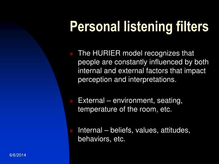 Personal listening filters