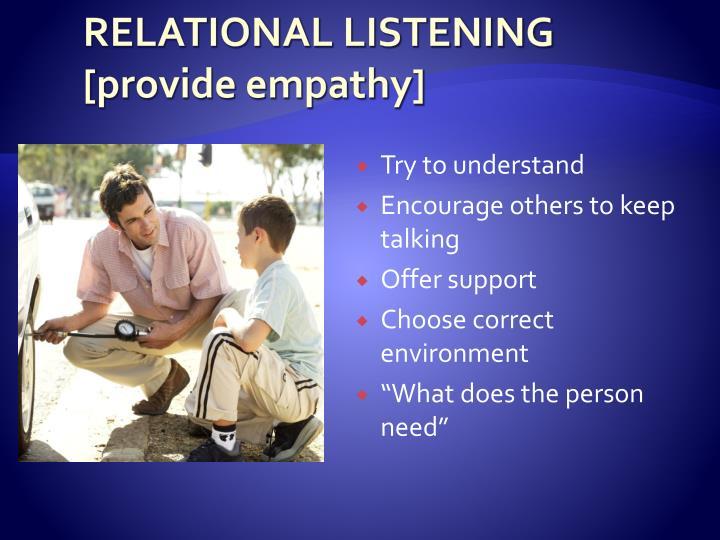 RELATIONAL LISTENING
