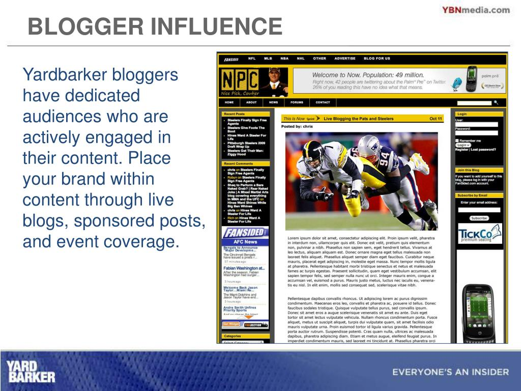 BLOGGER INFLUENCE