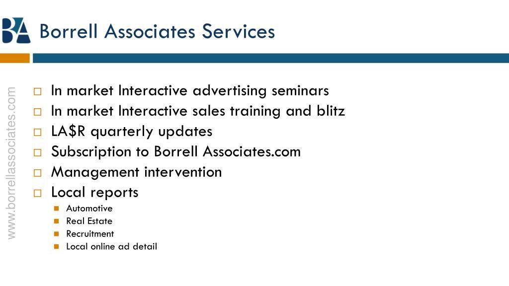 Borrell Associates Services