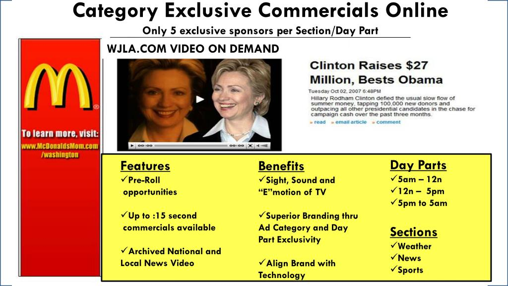 Category Exclusive Commercials Online