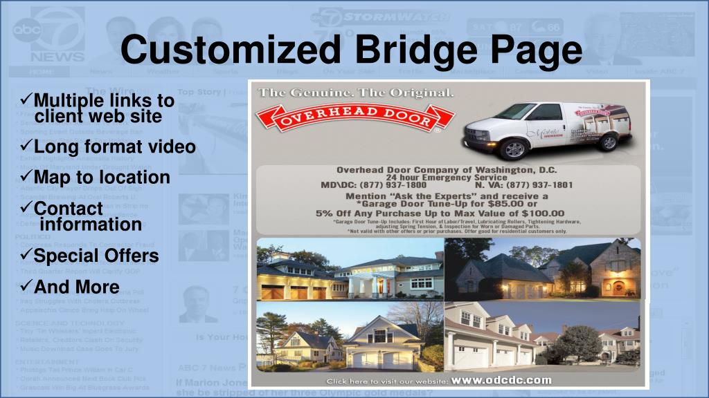 Customized Bridge Page